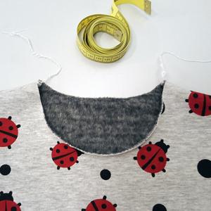 Shirt-nähen-Halsbündchen ausmessen