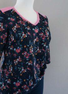Schnittmuster Shirt Marlena Baumwollsatin 01