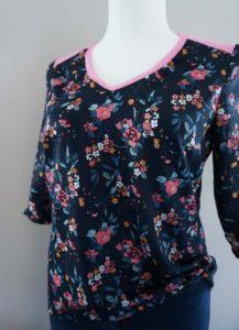 Schnittmuster Shirt Marlena Baumwollsatin 02