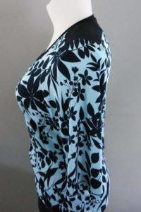 Schnittmuster Shirt Marlena blaue Blätter 1