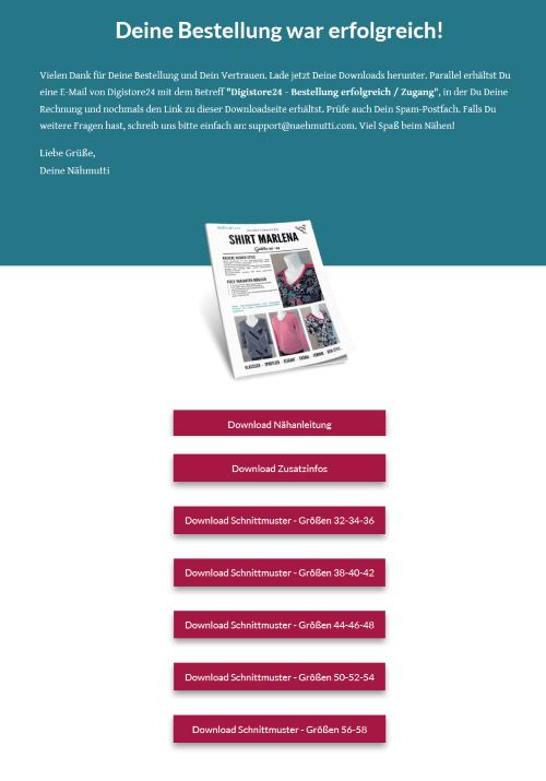 Downloadpage Schnittmuster Damenshirt Marlena