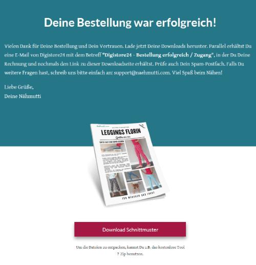 Schnittmuster Leggings Florin Download