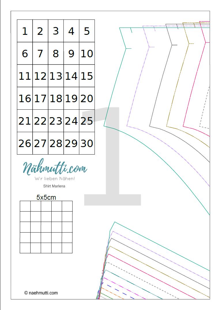 PDF Schnittmuster Shirt1