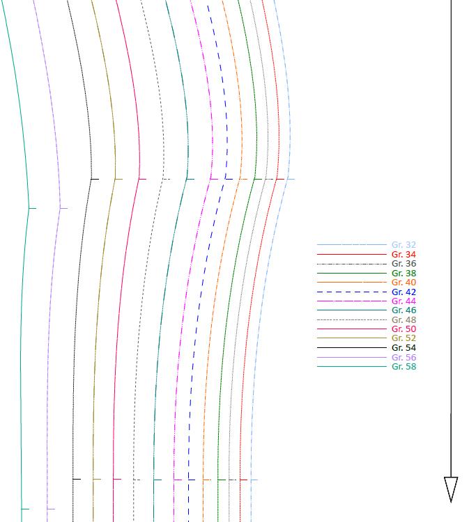 Papierschnittmuster farbe 01