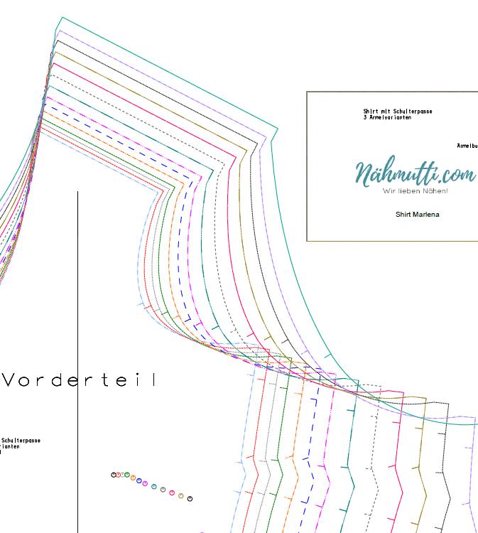Papierschnittmuster farbe 02